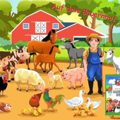 Kinderbuch auf dem Bauernhof