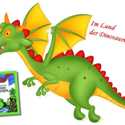 Kinderbuch mit Dinosaurier