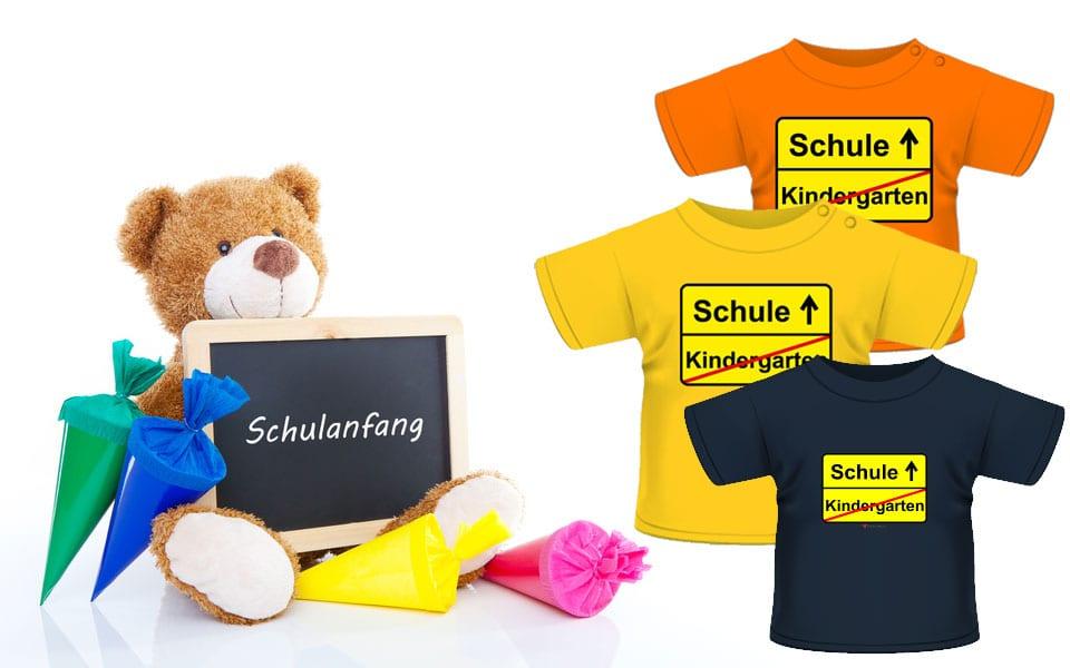 Kinder T-Shirt zum Schulanfang