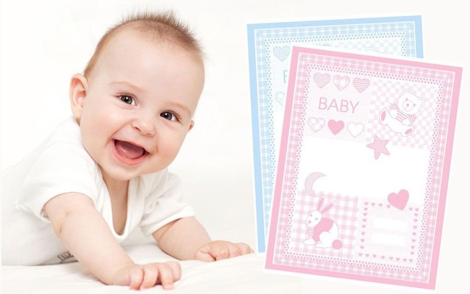 personifizierte geschenke baby