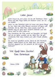 Brief Vom Osterhasen Vorlage 6 Schonste Stilvoll 12