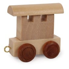 Namenszug Holzspielzeug - Waggon