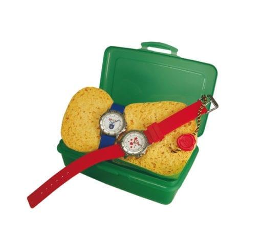 Kinderuhr mit Lunchbox