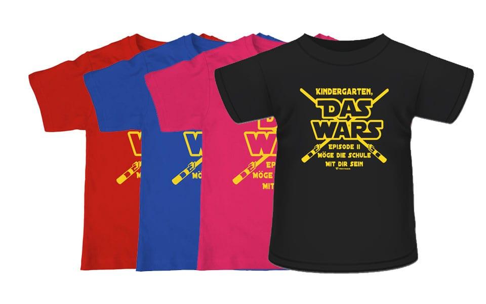 """T-Shirt für Schulanfänger """"Kindergarten Das wars"""""""