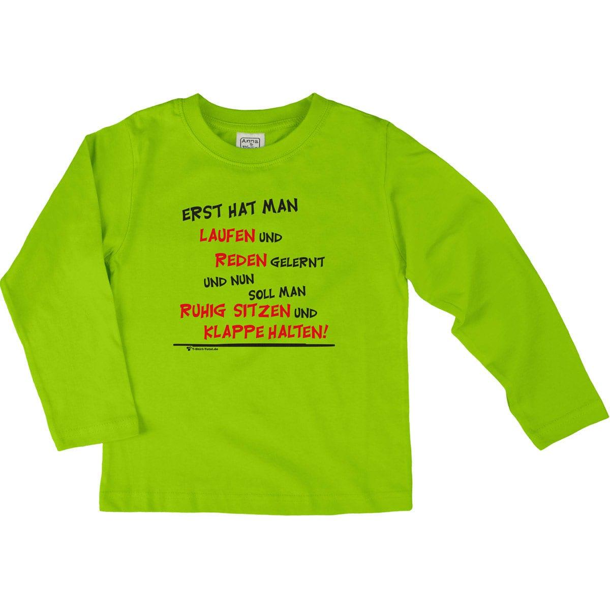 T-Shirt - Erst hat man reden und laufen ... | Namensgeschenke4Kids