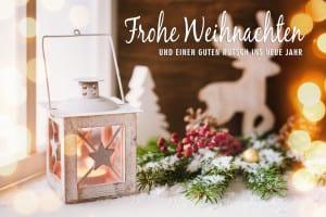 Romantic winter lantern