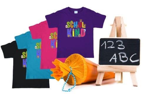 T-Shirt für Schulkinder