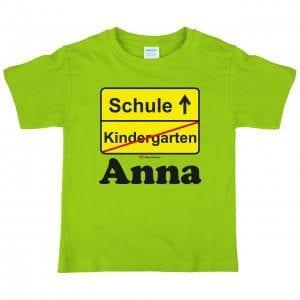 Beispiel T-Shirt mit Schrift
