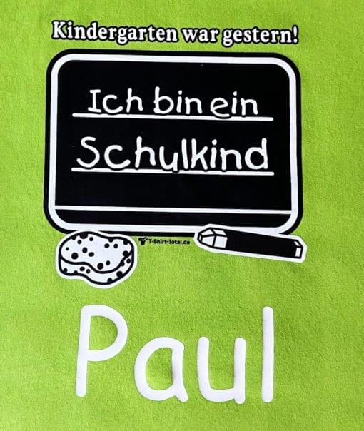 Schulanfänger T-Shirt mit Namen