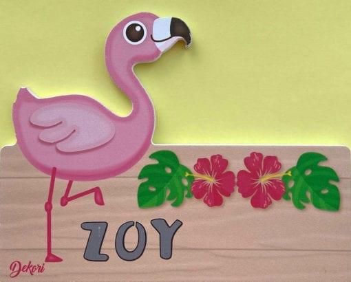 Holztafel Größe 1 - Motiv Flamingo