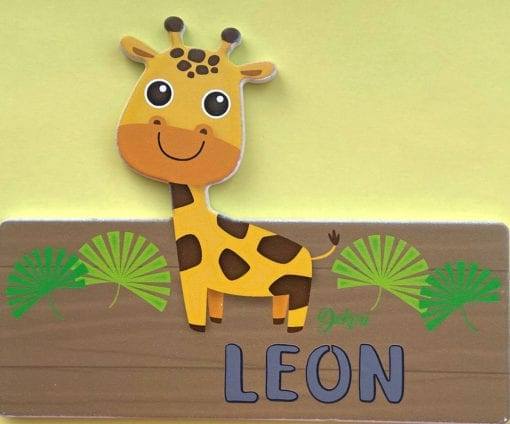 Holztafel Größe 2 - Motiv Giraffe