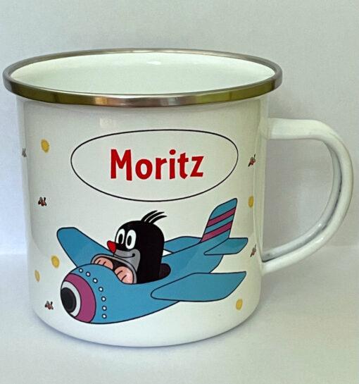 Emailletassen Motiv Kleiner Maulwurf - Moritz